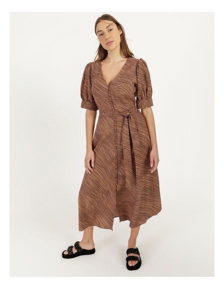 Linen Blend Button Front Dress image 3