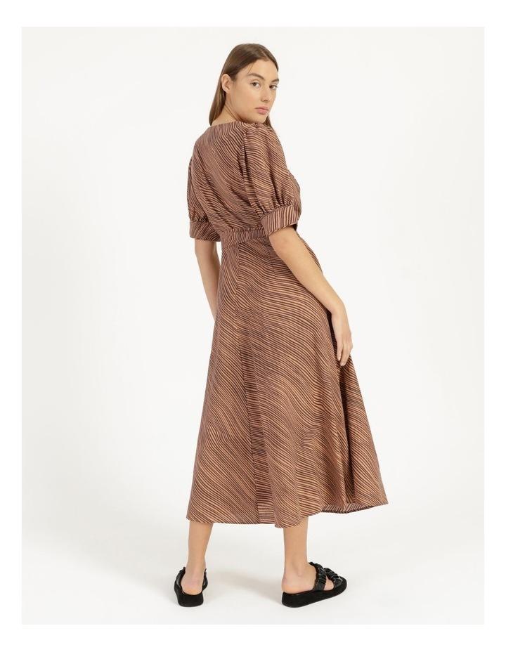 Linen Blend Button Front Dress image 4
