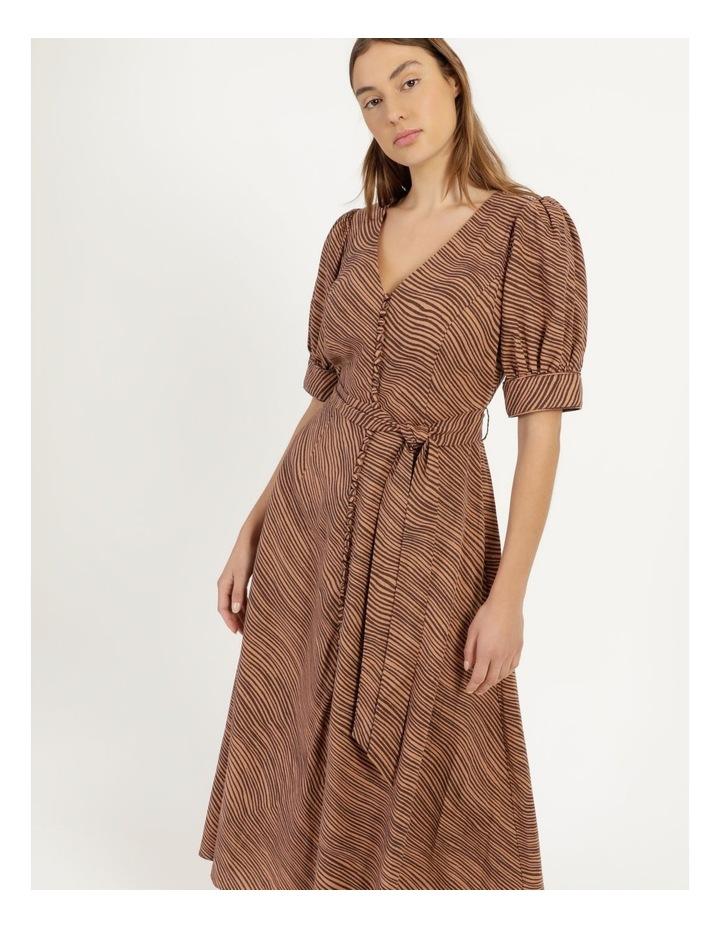 Linen Blend Button Front Dress image 5