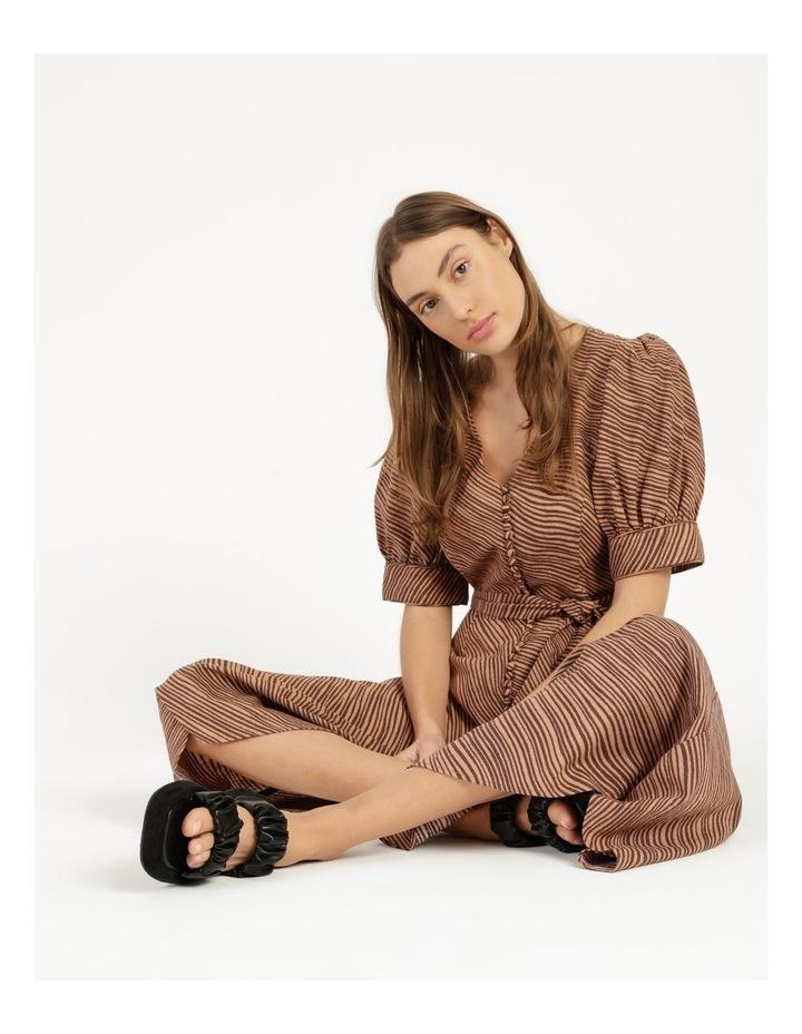 Linen Blend Button Front Dress image 6