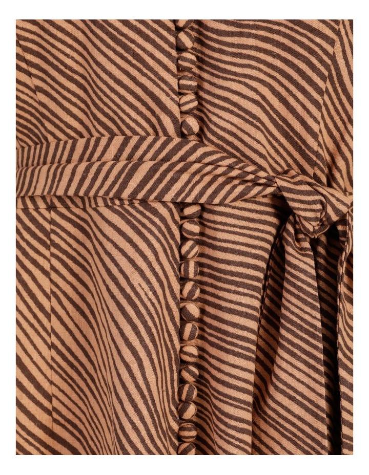 Linen Blend Button Front Dress image 7