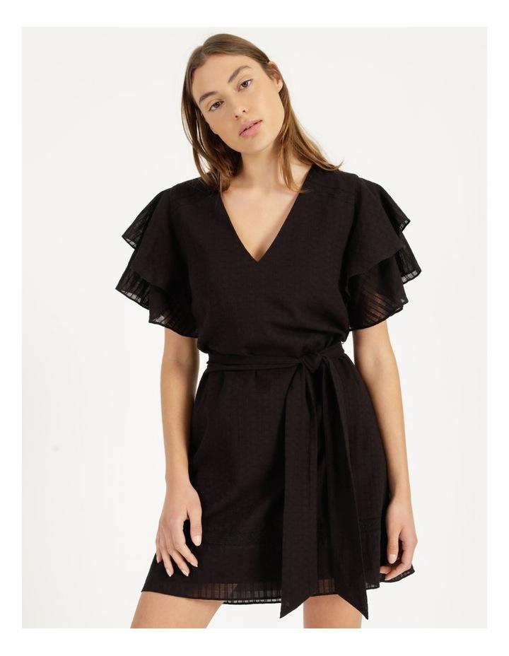Flutter Sleeve Embroidered Mini Dress image 1