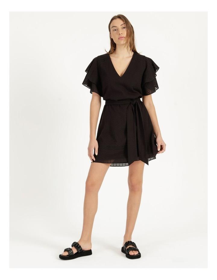 Flutter Sleeve Embroidered Mini Dress image 2