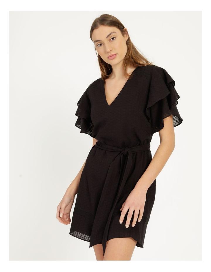 Flutter Sleeve Embroidered Mini Dress image 3