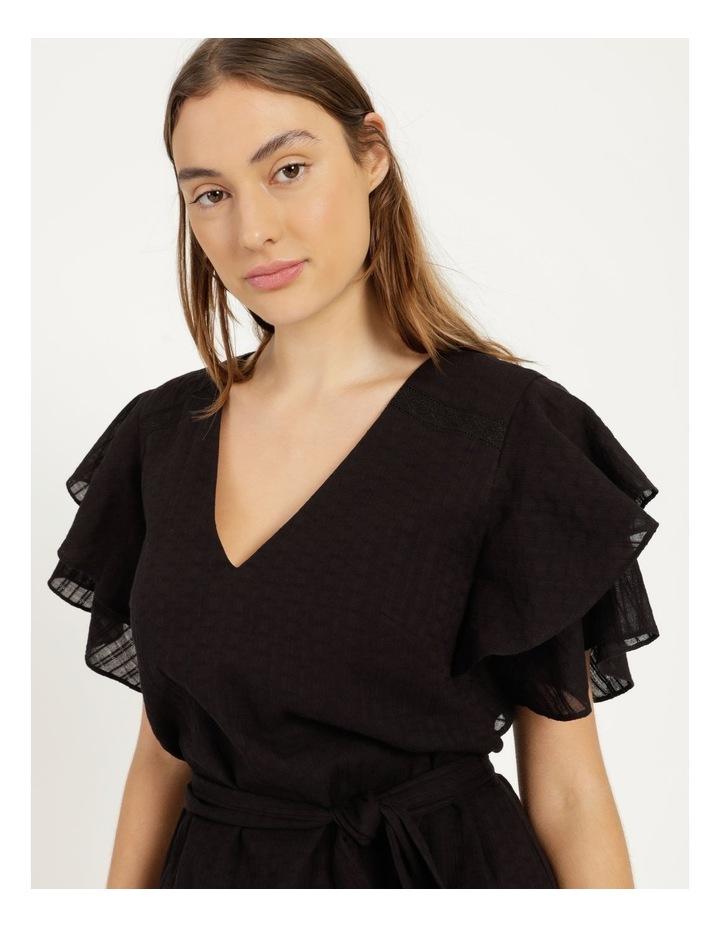 Flutter Sleeve Embroidered Mini Dress image 5