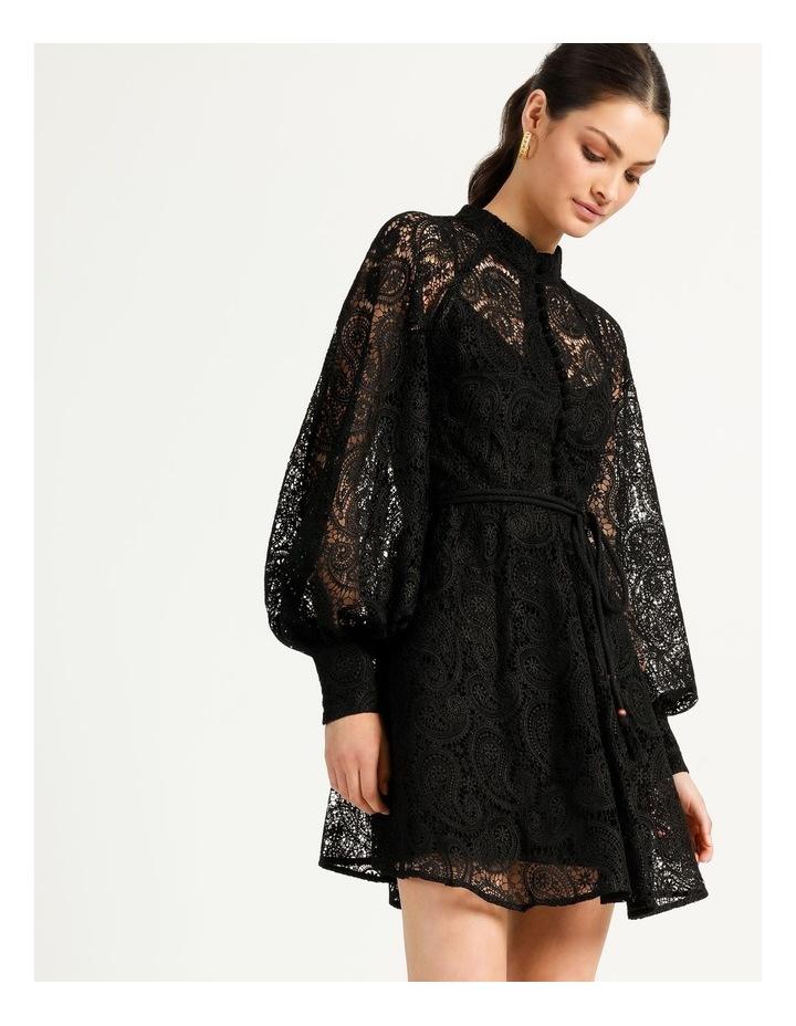 Lace Button Through Dress Black image 2