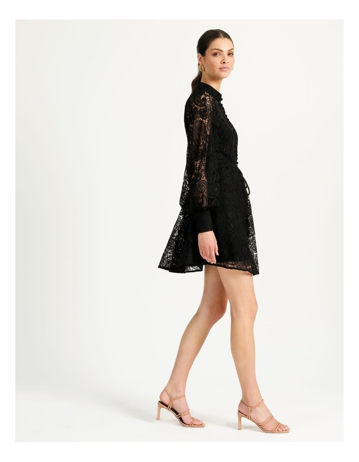 Lace Button Through Dress Black image 5