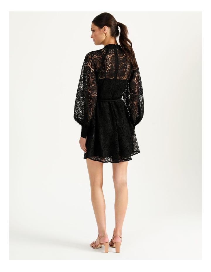 Lace Button Through Dress Black image 6