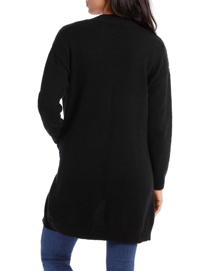 Longline Pocket Detail Cardigan image 3