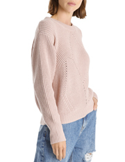 Grab - Rib And Pointelle Sweater