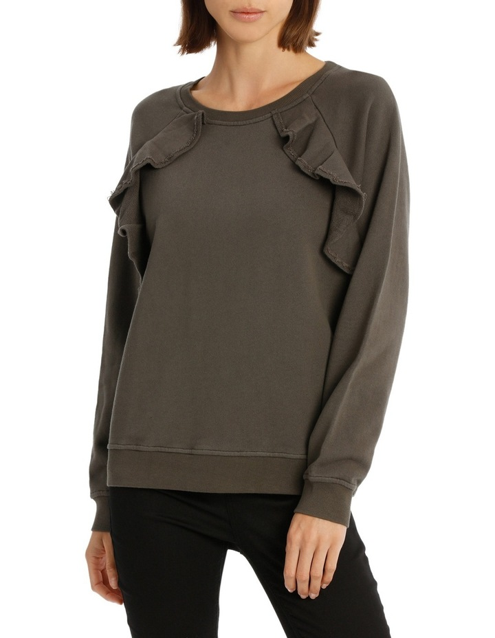 Sweat Top With Ruffles image 1