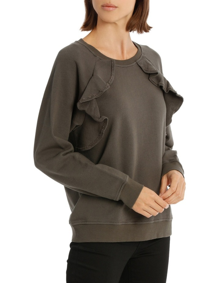 Sweat Top With Ruffles image 2