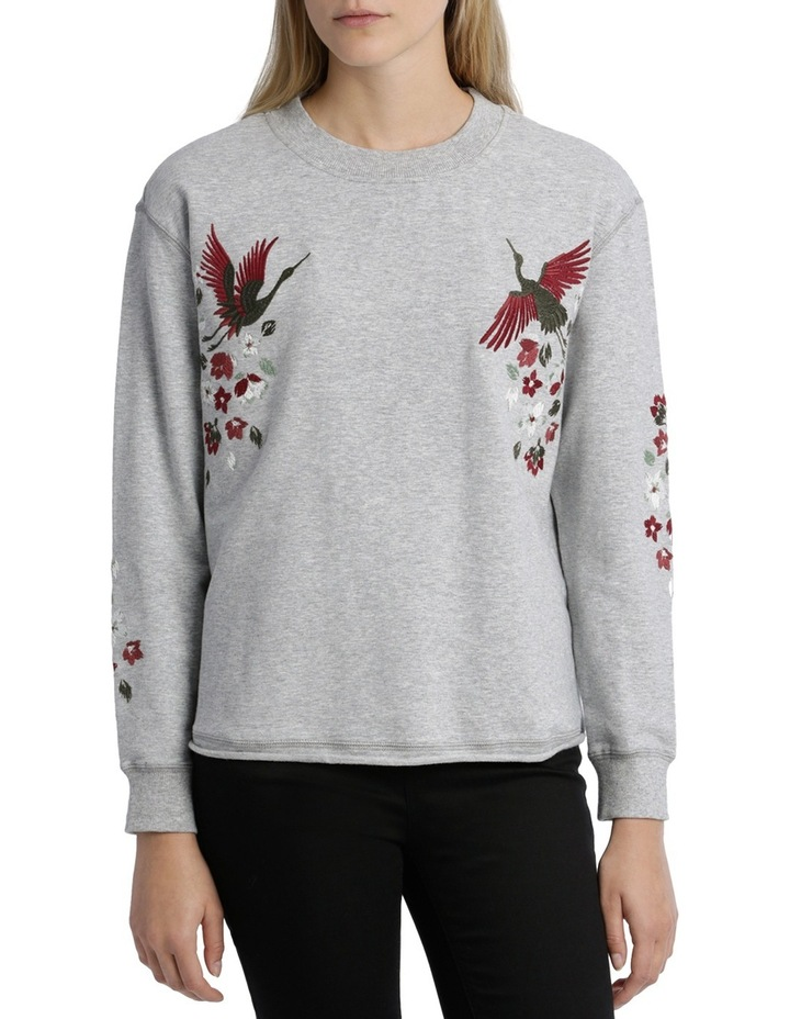 Sweat top with Embroidery on Sleeve image 1