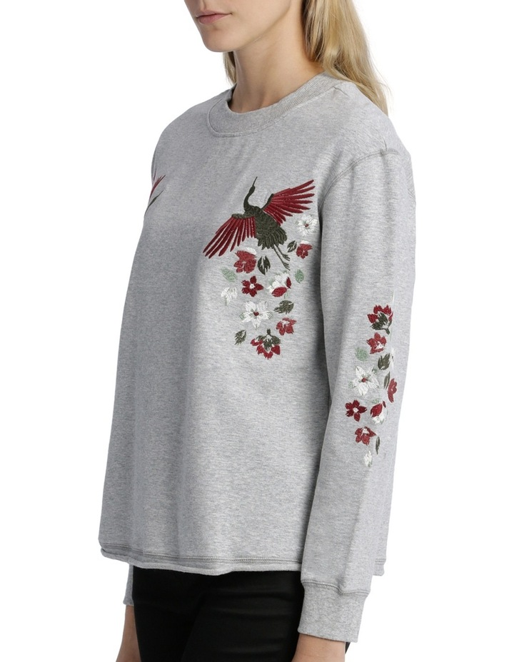 Sweat top with Embroidery on Sleeve image 2