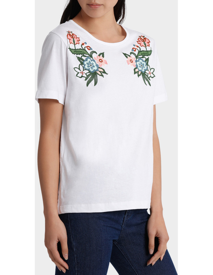 Embroidered Short Sleeve Tee image 2