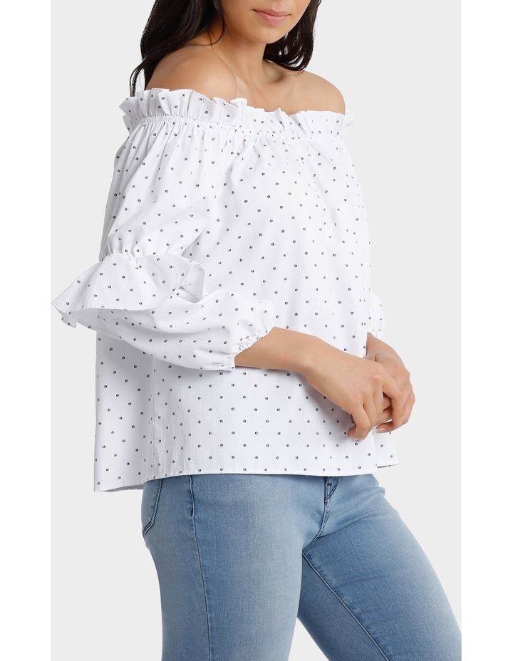 Off Shoulder Top with Multi Ruffles image 2