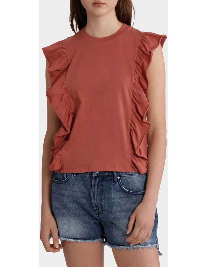 Tee with Side Ruffles image 1
