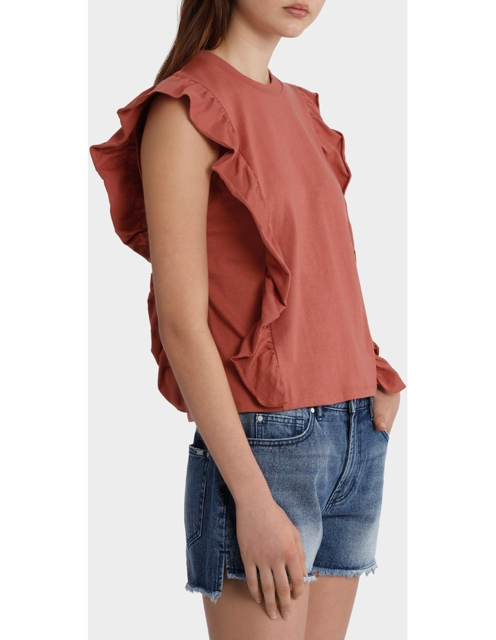 Tee with Side Ruffles image 2