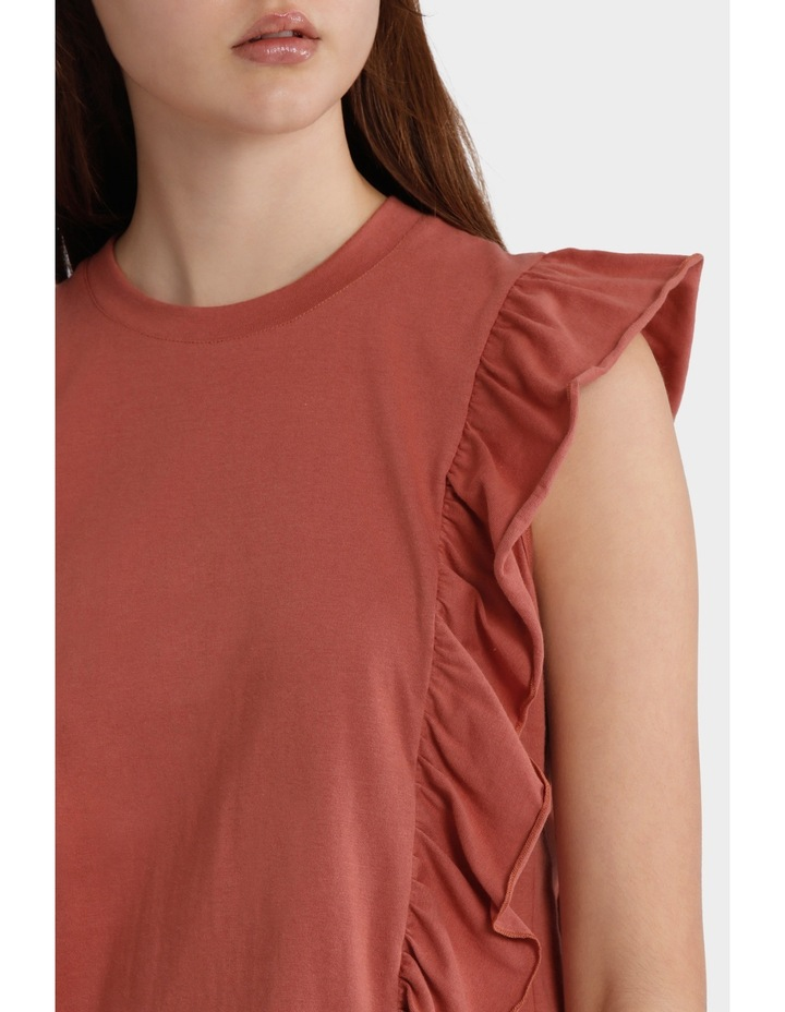 Tee with Side Ruffles image 4