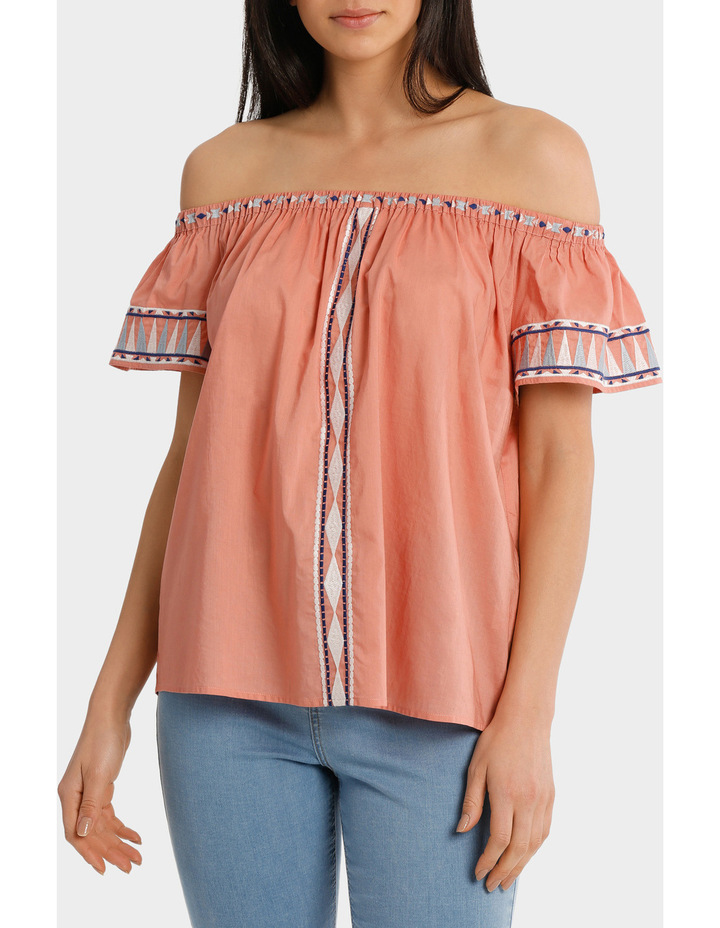 Top off shoulder Embroidery image 1