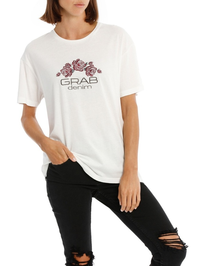 Tee with Logo and Embroidery image 1