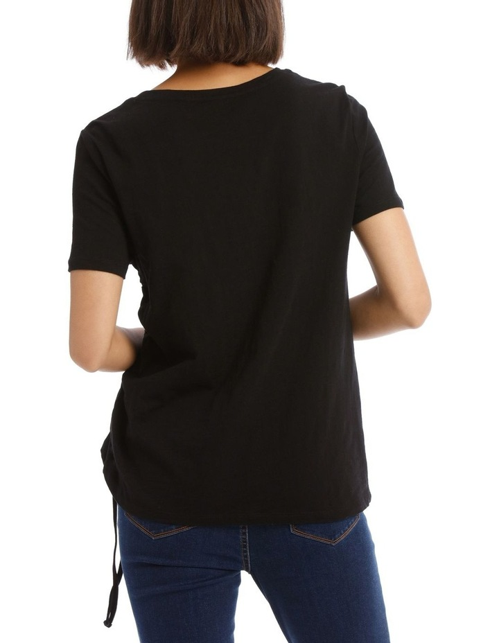 Ruched Side Detail Tee image 3
