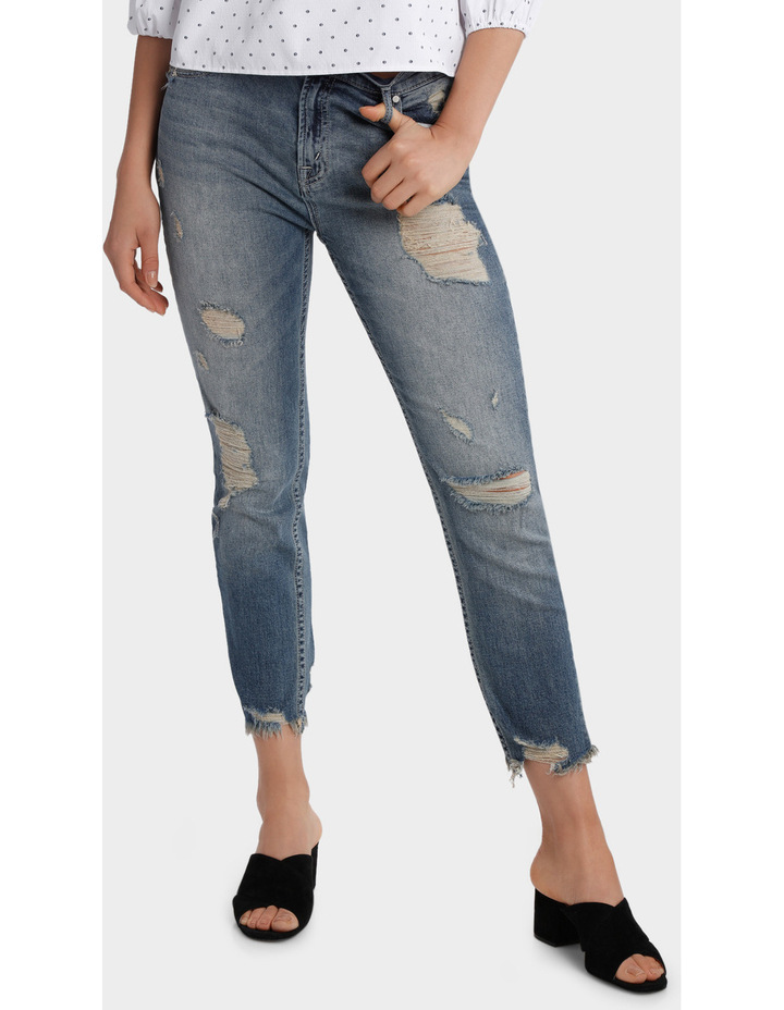 Jean with Ripped details image 1