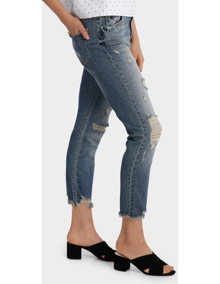 Jean with Ripped details image 2
