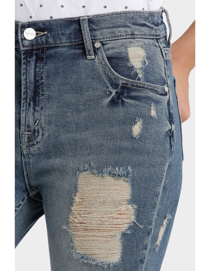 Jean with Ripped details image 4