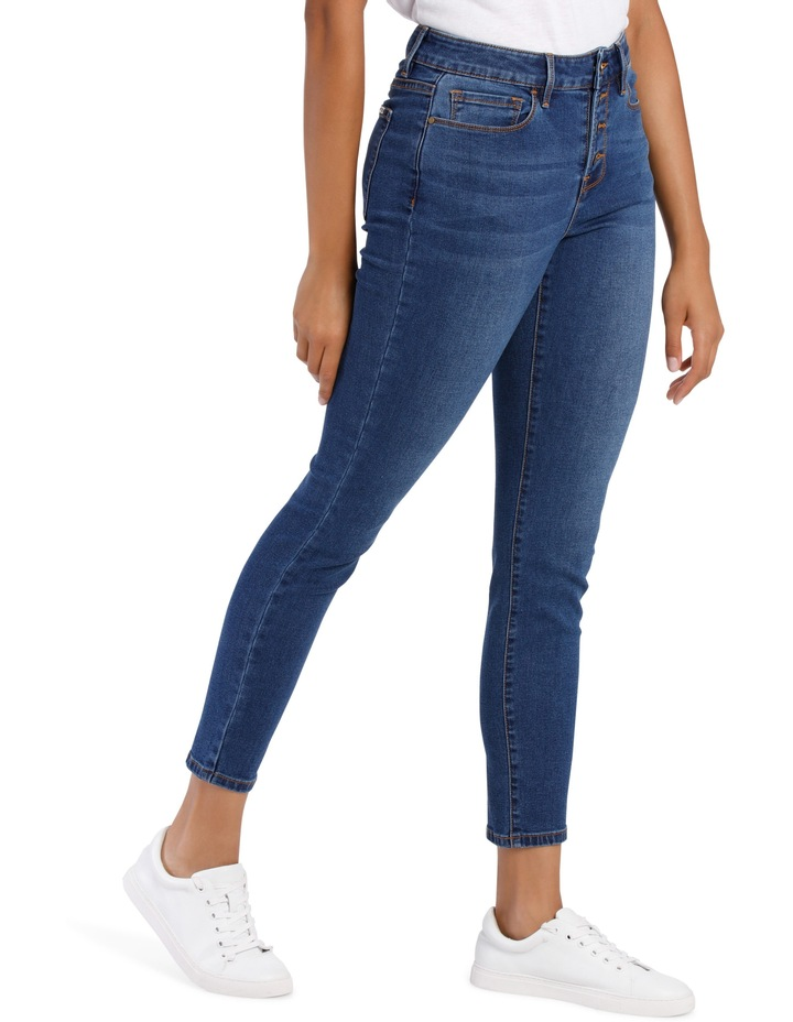 Melrose Mid Rise Skinny Jean Button Front image 2