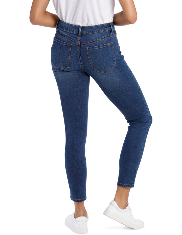 Melrose Mid Rise Skinny Jean Button Front image 3