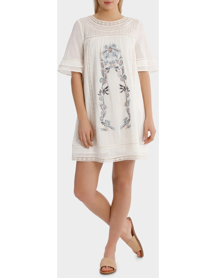 Crew Neck Embroidered Dress image 1