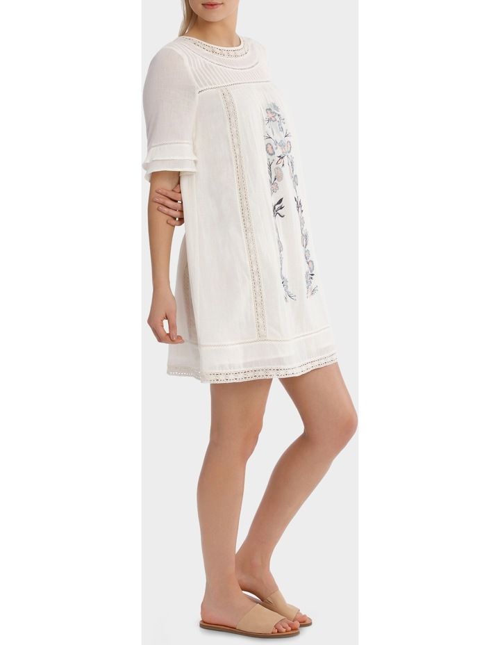 Crew Neck Embroidered Dress image 2