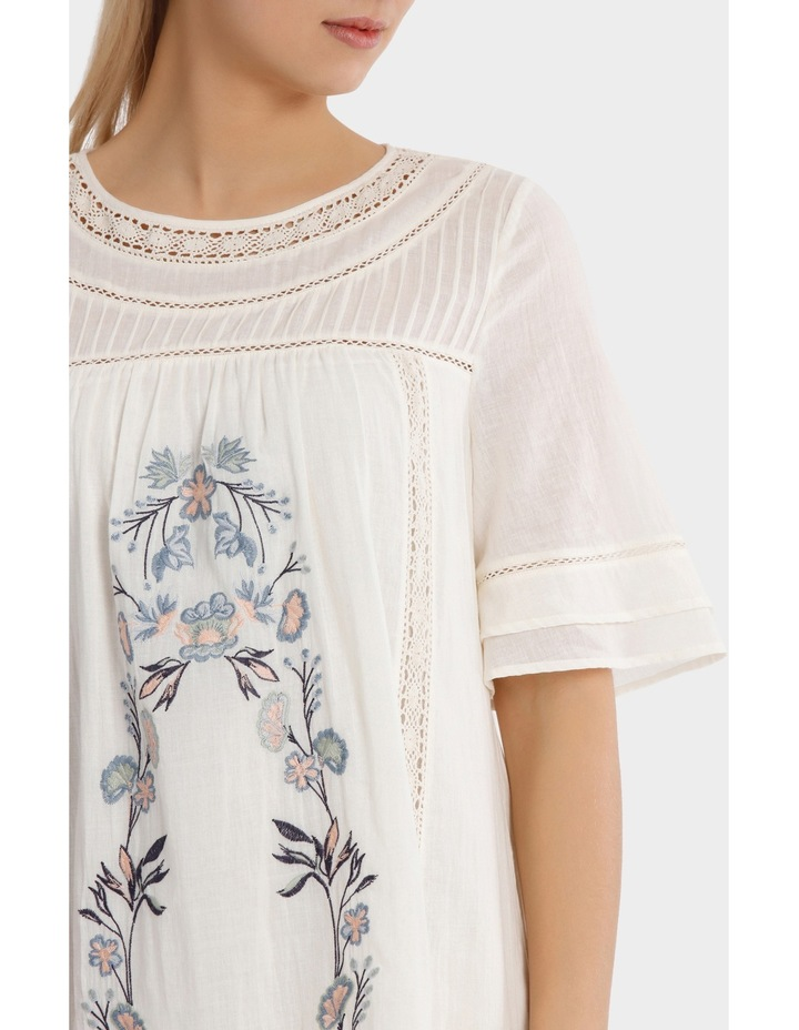 Crew Neck Embroidered Dress image 4