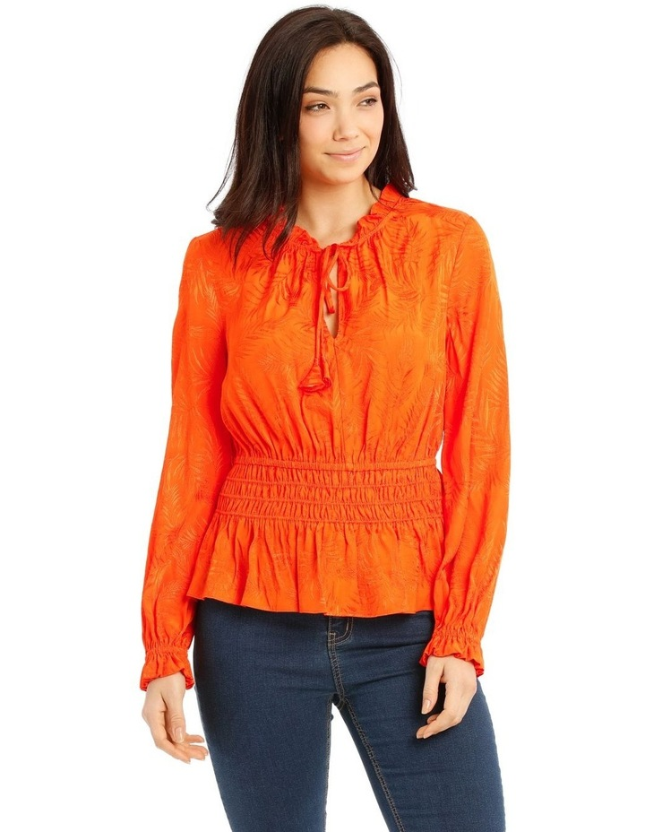 Top With Shirred Waist Detail image 1