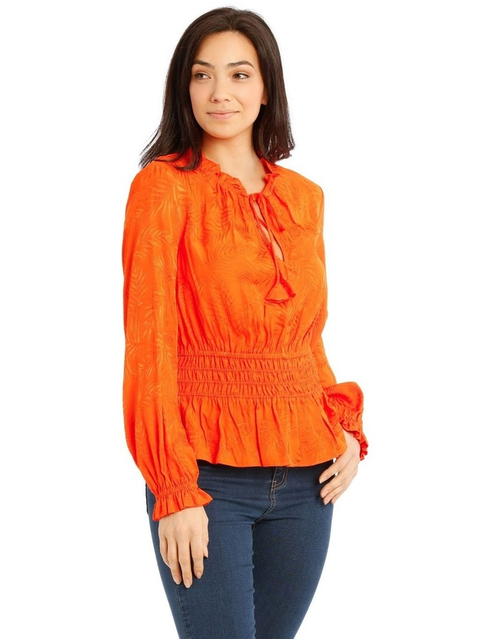 Top With Shirred Waist Detail image 2