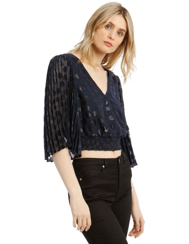 Wrap Top With Pleat Sleeve image 2