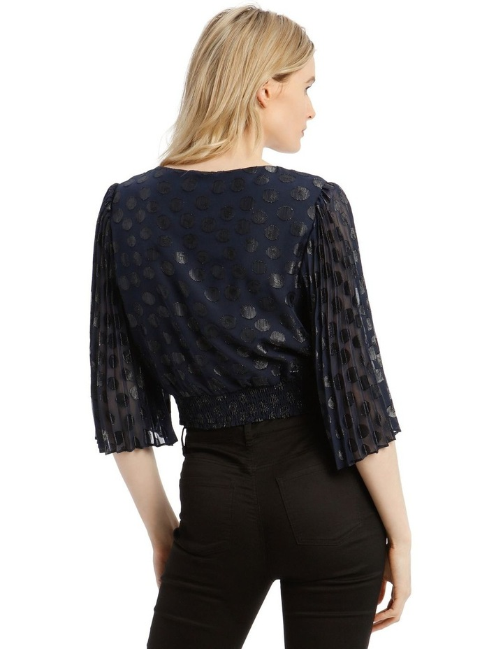 Wrap Top With Pleat Sleeve image 3