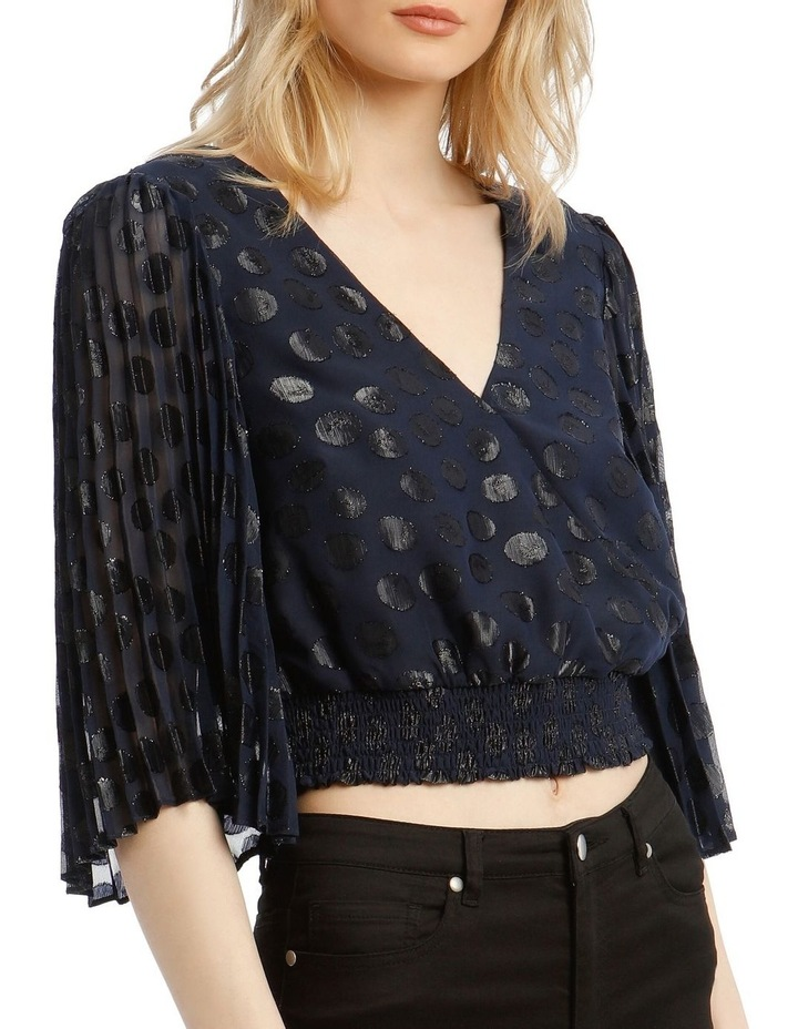Wrap Top With Pleat Sleeve image 4
