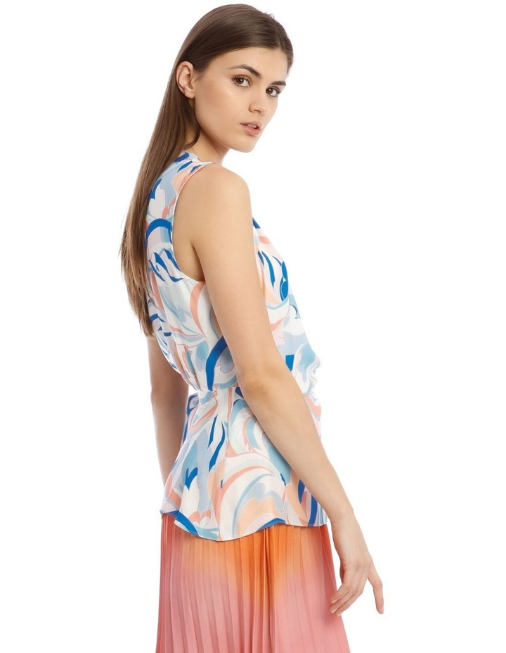 Sleeveless Top With Wrap Detail image 2