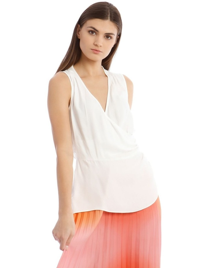 Sleeveless Top With Wrap Detail image 1