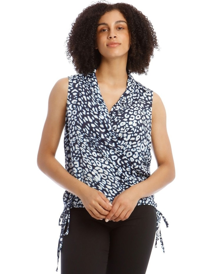 Top With Wrap Detail Printed image 1