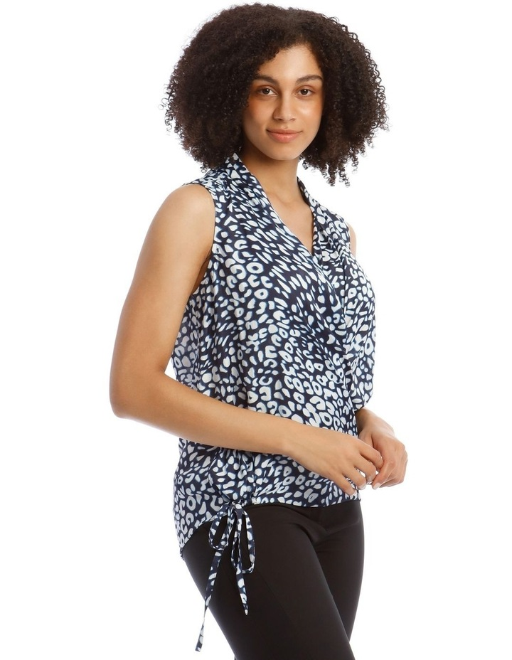 Top With Wrap Detail Printed image 2