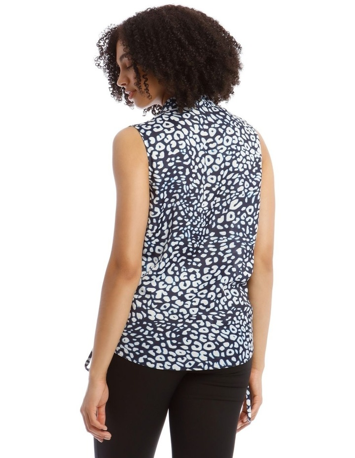 Top With Wrap Detail Printed image 3