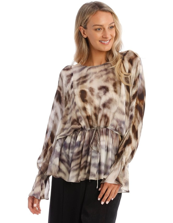 Giraffe Spotted Woven Top image 1
