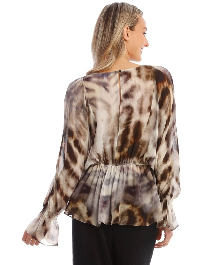 Giraffe Spotted Woven Top image 3