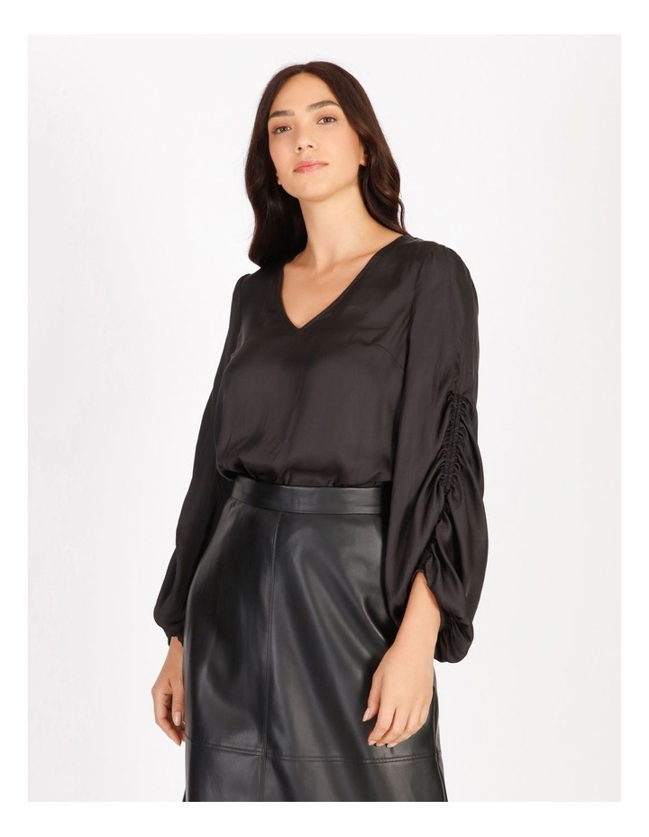 Ruched Long Sleeve Blouse image 1