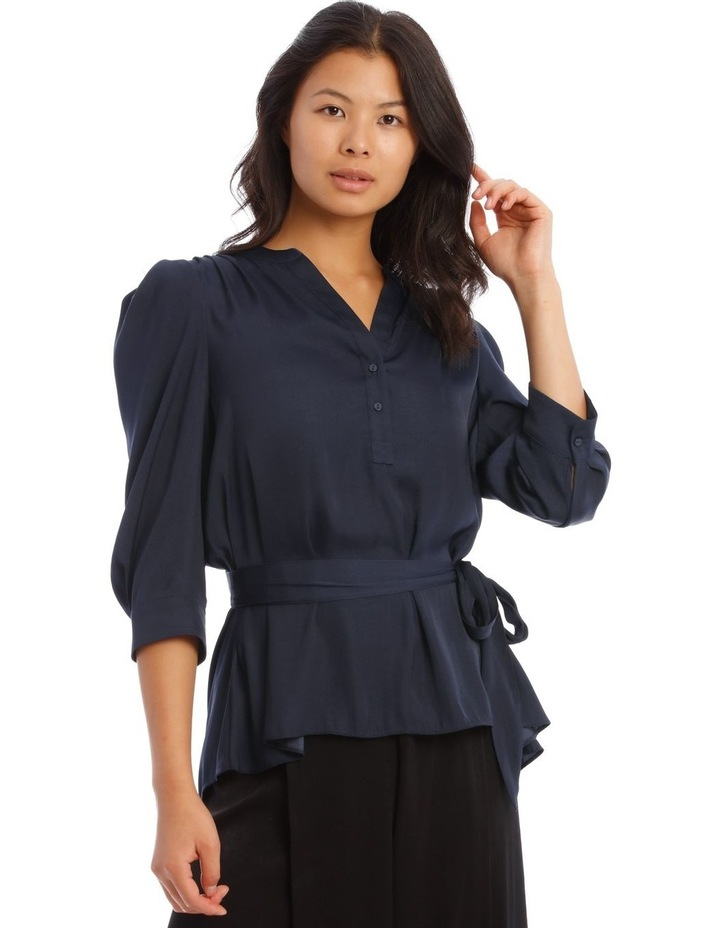 Button Through Shirt With Tuck Sleeve image 1