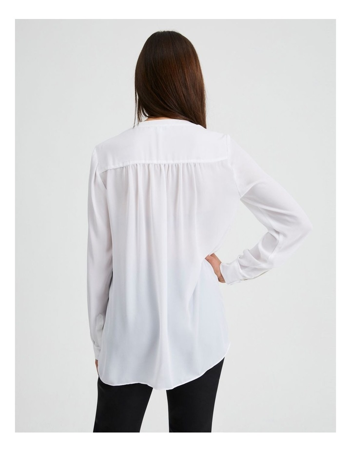 Long Sleeve Wrap Front Blouse image 3