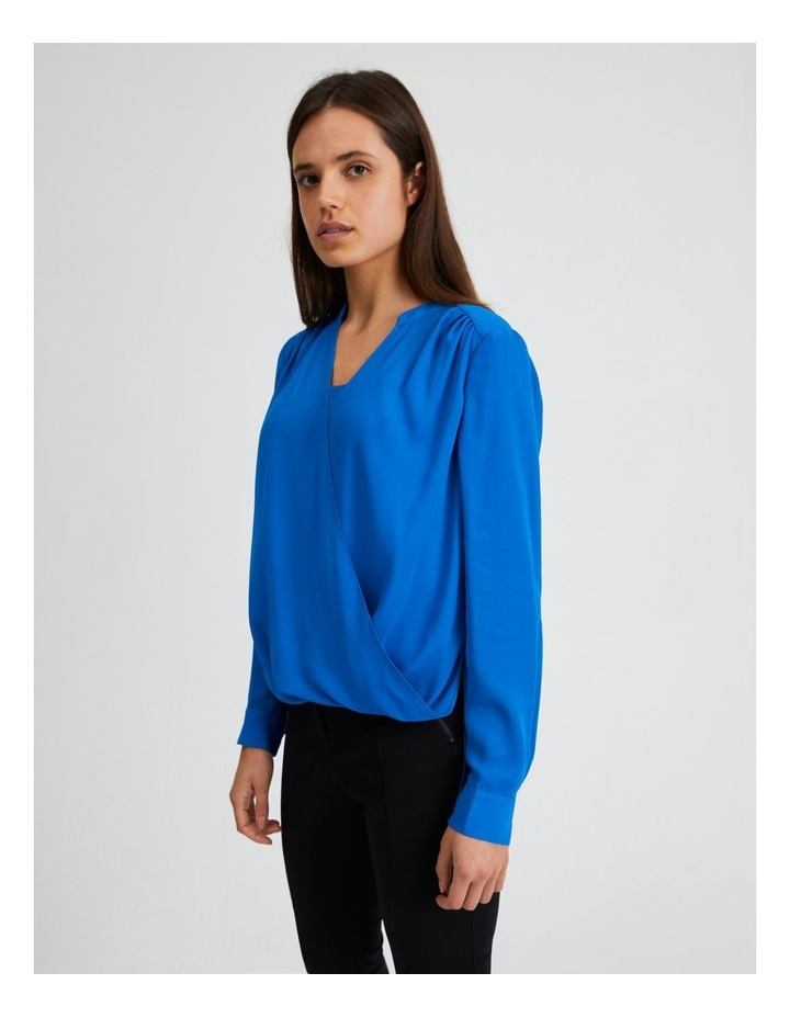 Long Sleeve Wrap Front Blouse image 2